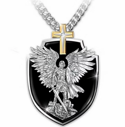 Men's Archangel Cross Necklace