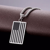 Subdued American Flag Necklace