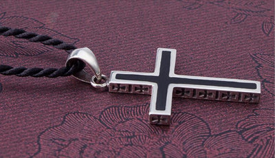 Stainless Black & Chrome Cross