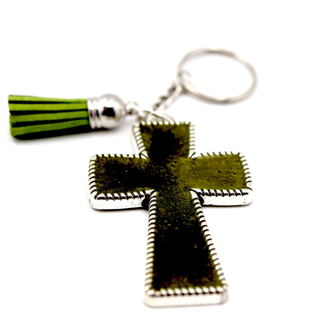 Green Pearly Keychain