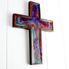 Purple, Turquoise, Copper & Seagreen Wall Cross