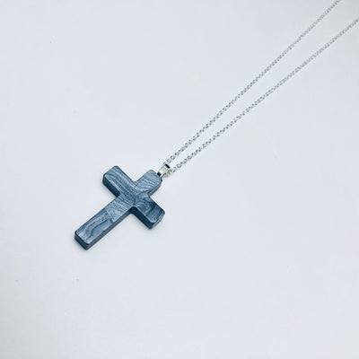 Pearl Swirl Cross Necklace