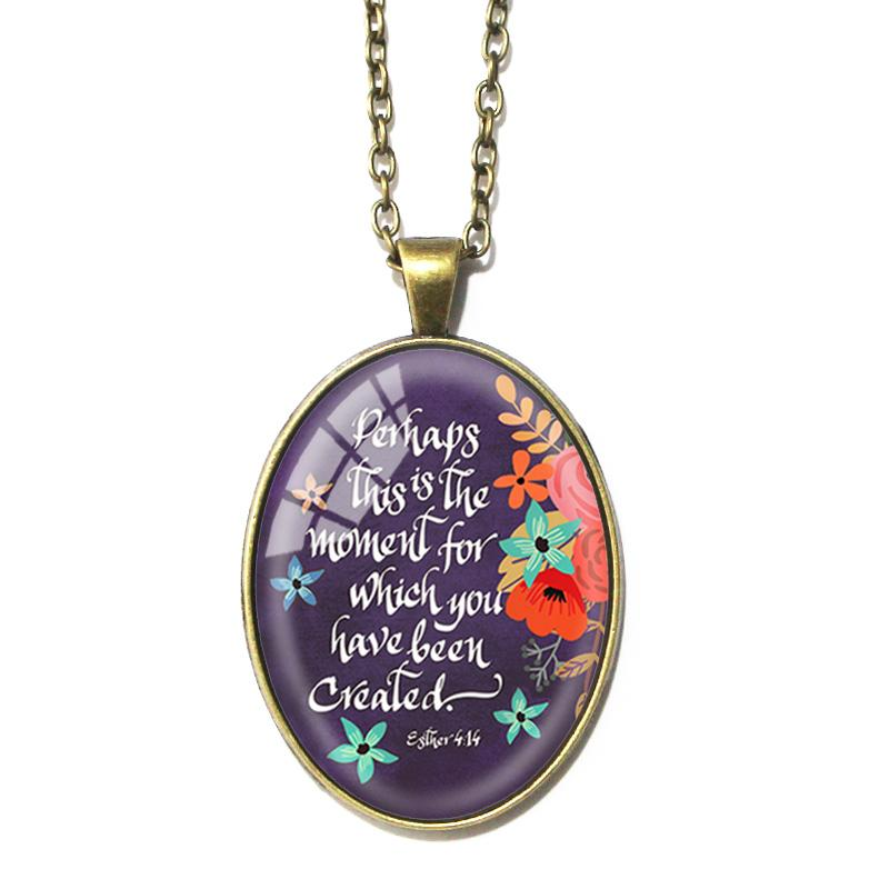 Esther 4:14 Oval Pendant