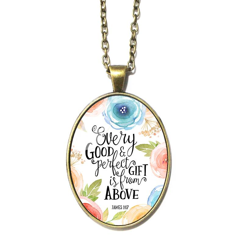 James 1:17 Oval Pendant