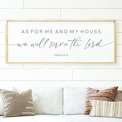 Joshua 24:15 Farmhouse Sign