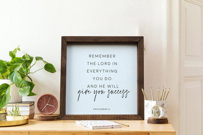 Proverbs 3:6 Framed Wood Sign