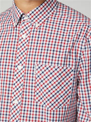 Ben Sherman Red & Blue Long Sleeve House Check Shirt