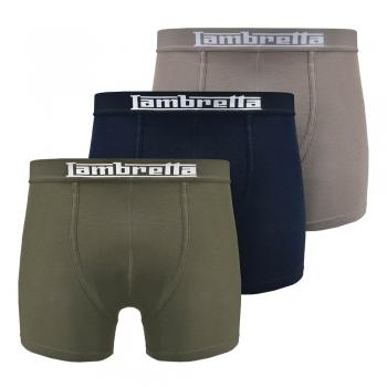 Mens 3 Pack Boxer. Navy/Charcoal/Khaki