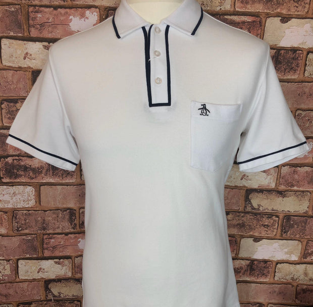 Penguin - Penguin Short Sleeve Polo. Bright White - Rat Race Margate