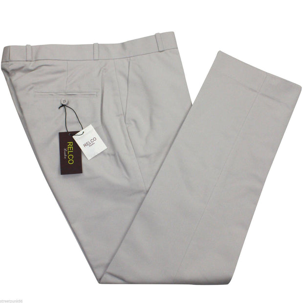 Sta-Prest Trousers. Cream