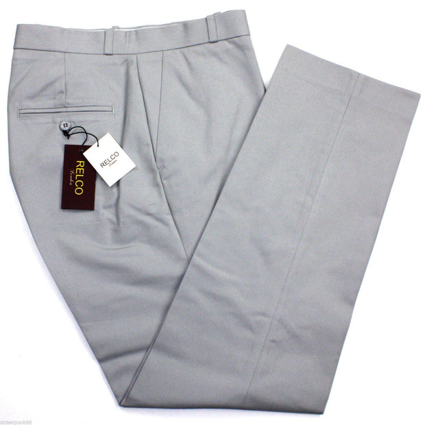 Sta-Prest Trousers Silver Grey