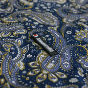 Lambretta Paisley Long Sleeve Button Down Shirt. Navy