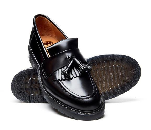 Solovair Black Tassel Loafer