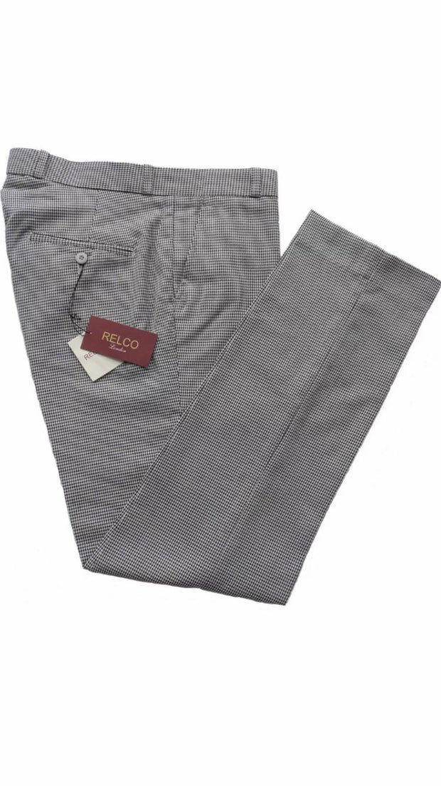 Relco - Sta-Prest Trousers Dogtooth - Rat Race Margate