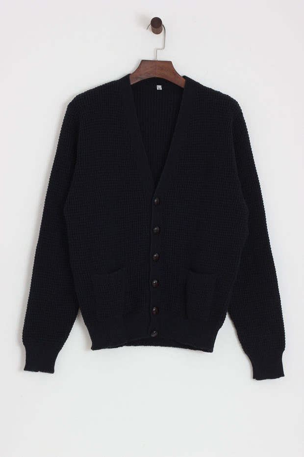 Relco - Waffle Cardigan Navy - Rat Race Margate