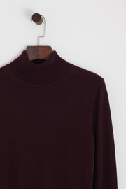 Ben Sherman - Fine Gauge Roll Neck Wine - Rat Race Margate