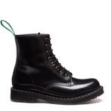 Solovair Black High Shine 8 Eye Derby Boot