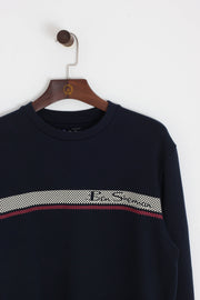 Ben Sherman - Stripe Sweatshirt Navy Blue - Rat Race Margate