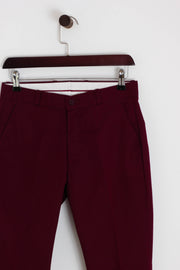 Relco - Sta-Prest Trousers Burgundy - Rat Race Margate
