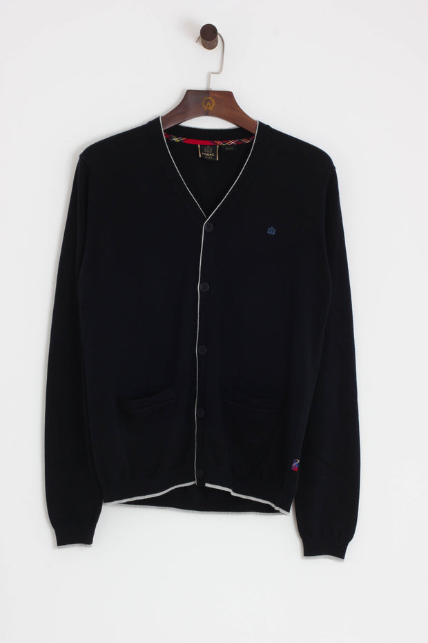 Merc - Ryan Tipped Cardigan Navy - Rat Race Margate