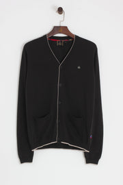 Merc - Ryan Tipped Cardigan Dark Khaki - Rat Race Margate