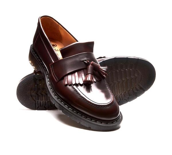 Solovair Burgundy Rub-Off Tassel Loafer