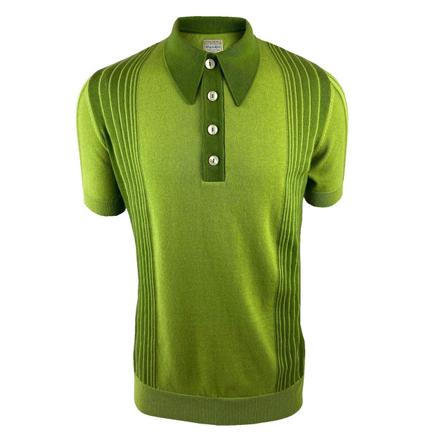 Ska & Soul Short Sleeve Polo Knit. Green