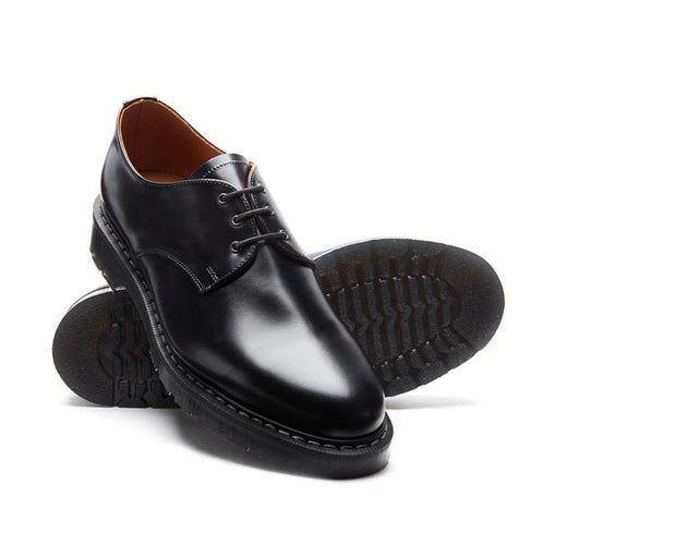 Solovair Black High Shine Gibson Shoe