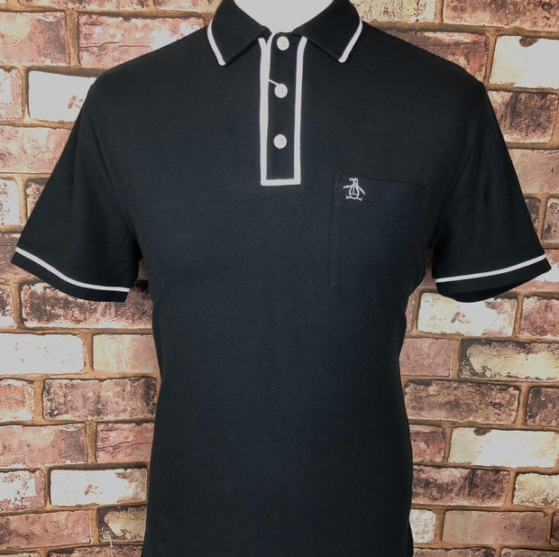 Penguin - Penguin Short Sleeve Polo. True Black - Rat Race Margate