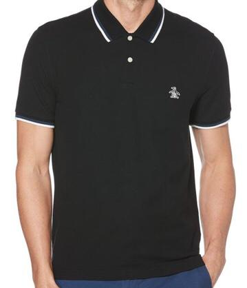 Penguin Short Sleeve Polo. True Black