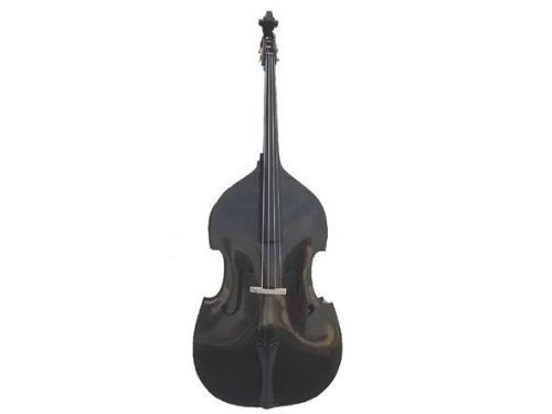 GRACE 4/4 Size Black Upright Double Bass with Bag,Bow,Bridge+Free Rosin