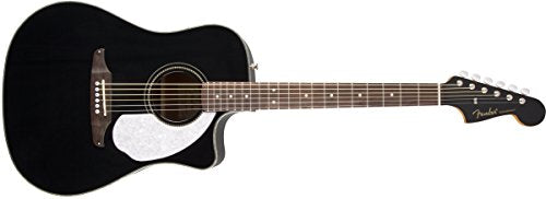 Fender Sonoran SCE Dreadnought Cutaway Acoustic-Electric Guitar - Black
