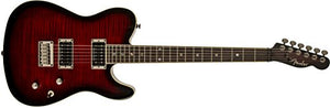 Fender Special Edition Custom Telecaster HH Electric Guitar, Rosewood Fingerboard - Black Cherry Burst