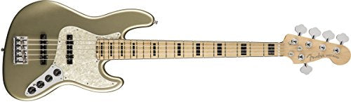 Fender American Elite Jazz Bass V Maple Fingerboard Champagne