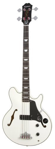 Epiphone Limited Edition Jack Casady Signature Semi-Hollowbody Bass, gloss White