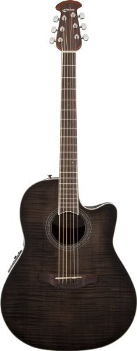 Ovation CS24P-TBBY Acoustic-Electric Guitar Trans, Black Flame Maple