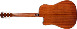 Fender CD-140SCE All Mahogany Acoustic-Electric Guitar with Case - Dreadnaught Body Style - Natural Finish