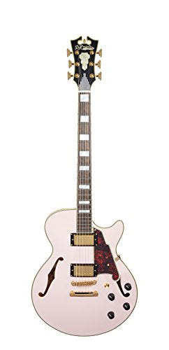 D'Angelico Deluxe SS Semi-Hollow Electric Guitar - Matte Rose Pink