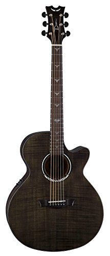 Dean Performer Ultra Flame Maple Acoustic-Electric Guitar - Trans Black