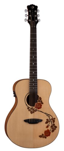 Luna Oracle Series Rose Folk Acoustic-Electric Guitar