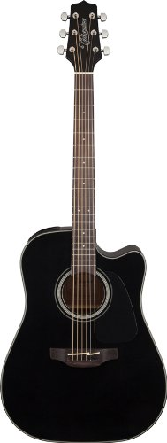 Takamine GD30CE-BLK Dreadnought Cutaway Acoustic-Electric Guitar, Black