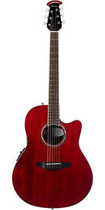 Ovation Celebrity Standard Solid Spruce Top Acoustic-Electric Guitar, Ruby Red