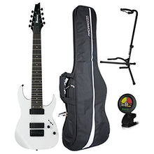 Ibanez RG8 8-String Electric Guitar White w/ Gig Bag, Tuner, and Stand