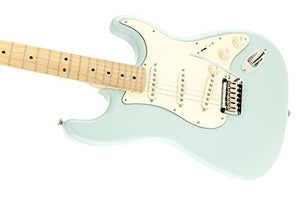 Squier by Fender 300500504 Deluxe Stratocaster Electric Guitar - Daphne Blue - Maple Fingerboard