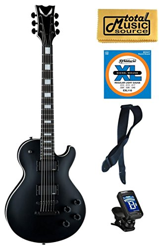 Dean Thoroughbred Stealth Black Electric Guitar w/EMG's FREE Strings Tuner Strap