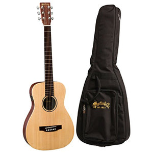 Martin LX1E Acoustic Guitar W/ Fishman Sonitone electronics Solid Sitka spruce top Modified O-14 fret body Inlaid boltaron w/red