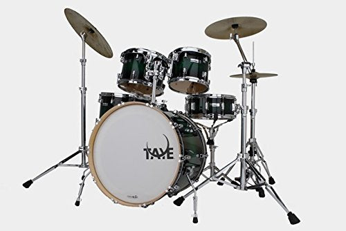 Taye SM522S-SPK-GBB 5 Piece 22 in. StudioMaple Stage Drum Shell Pack44; Green to Black