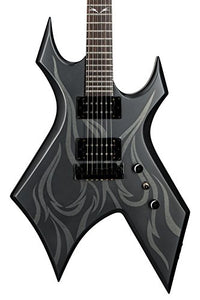 B.C. Rich Kerry King Signature Warlock KKW30 Electric Guitar, All New 2017 Model, Ghost Flame Satin