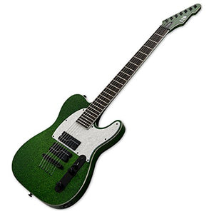 ESP LTD SCT-607 Stephen Carpenter Baritone Electric Guitar (Green Sparkle) w/ Ha