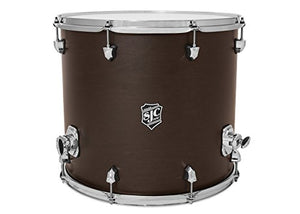 "SJC Custom Drums NV-FT1618CH-MESU Navigator Series 16x18"" Midnight Espresso Super Satin Stain Floor Tom with Chrome Hardware"